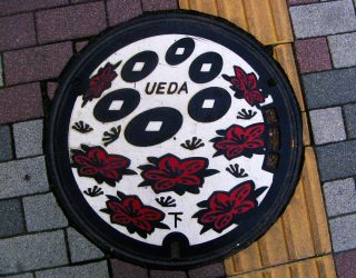 01 Ueda-City's-manhole-cover